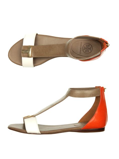 white sandals flat burch casey flat sandals in brown white lyst