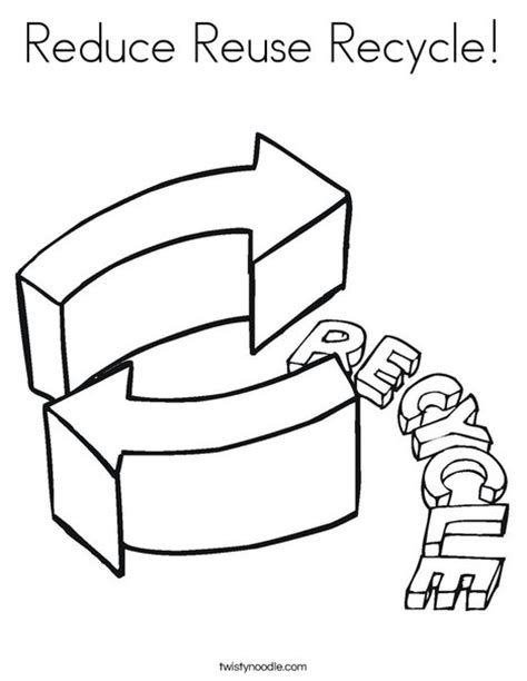 coloring pages for recycle reduce reuse reduce reuse recycle coloring page twisty noodle
