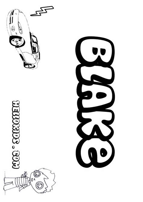 create a coloring page with your name blake free coloring pages