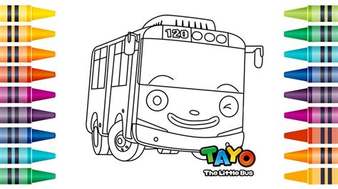 coloring page tayo school bus clip art black and white tayo bus coloring pages