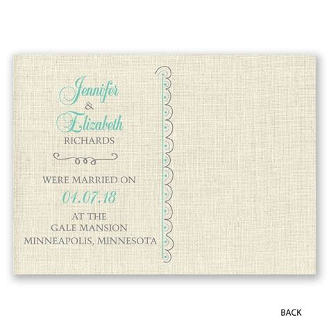 Wedding Announcement Postcards by Beautiful Vows Wedding Announcement Postcard Invitations