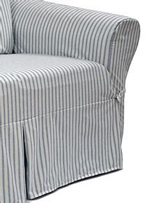 blue and white striped slipcovers 17 best images about striped furniture fabric on pinterest