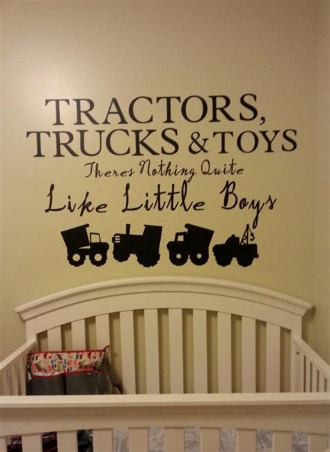 boy nursery wall decal baby boy nursery wall decal vinyl decal tractor construction