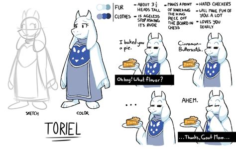 Toriel Reference Sheet By The Papernes Guy On Deviantart