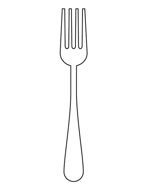 Fork Template Printable Fork Pattern Use The Printable Outline For Crafts Creating Stencils Scrapbooking And More