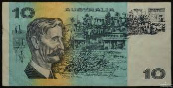 australian paper ten dollar note value