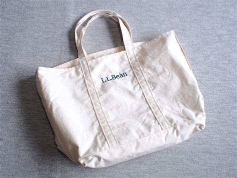 ll bean canvas tote leather handles l l bean grocery tote bag genuine article from japan 100