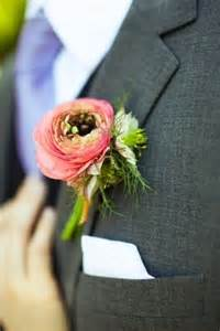 coral boutonniere coral ranunculus boutonniere poppy for christie and