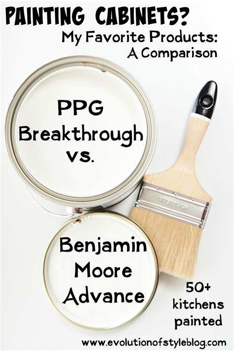 painting cabinets benjamin advance vs ppg breakthrough evolution of style