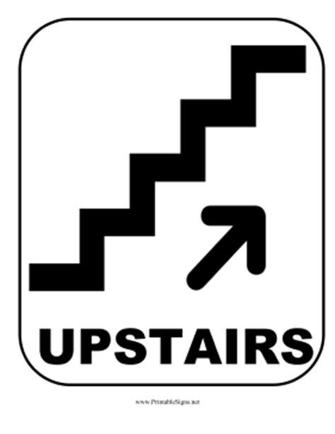 Printable Upstairs Sign