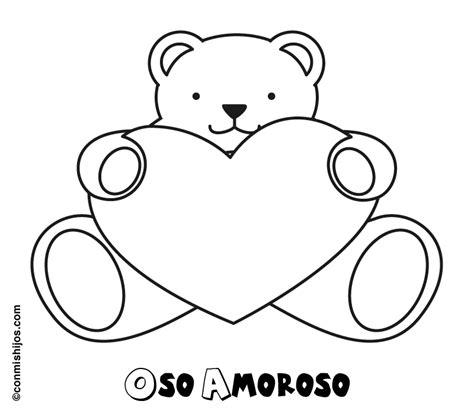 imagenes de osos con corazones para colorear dibujos de osos con corazones para colorear imagui