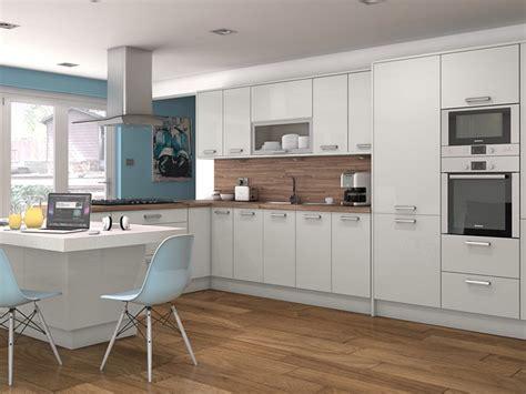 White Cabinets Dark Countertops Kitchen