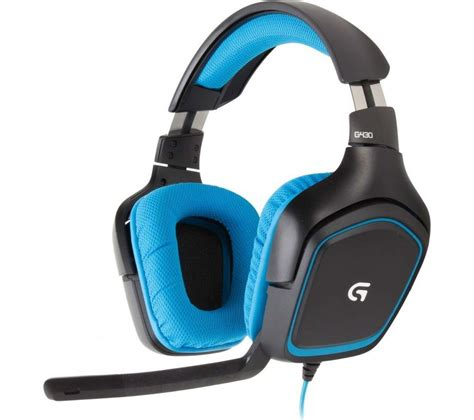 Headset Gaming Logitech buy logitech g430 gaming headset black blue free delivery currys