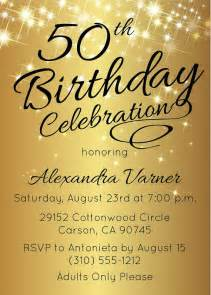 50th birthday invitation printable gold 50th birthday invites by announce it