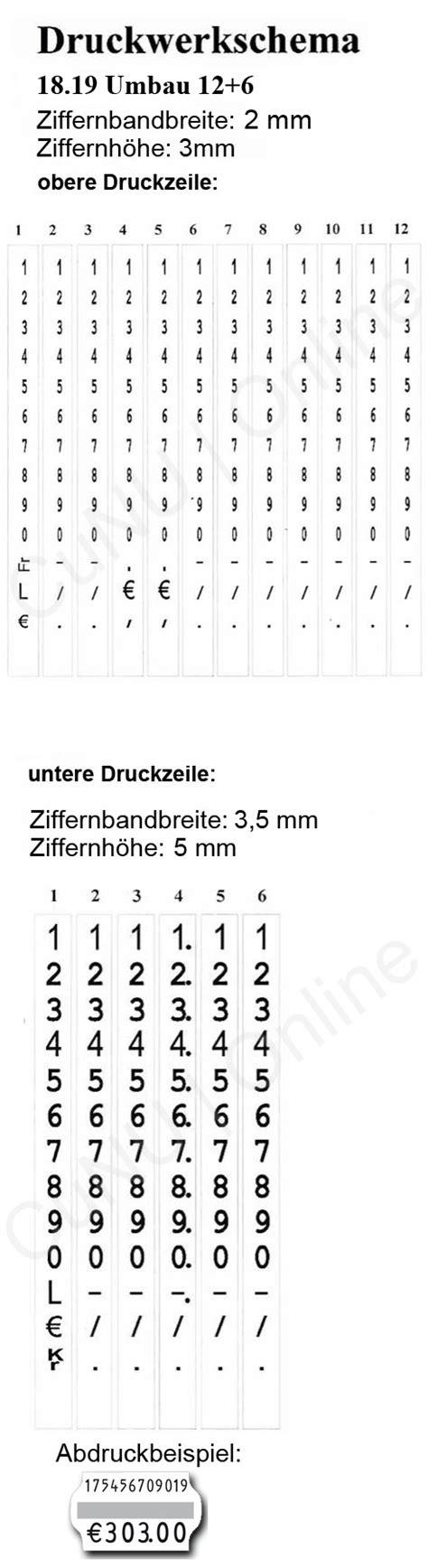 Etiketten Contact by Handauszeichner Contact 18 19 Focus 12 Zeichen Oben 6 Unten