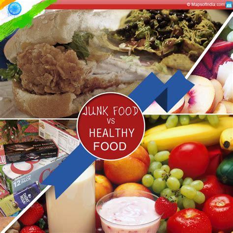 vs food junk food vs healthy food chart www imgkid the image kid has it