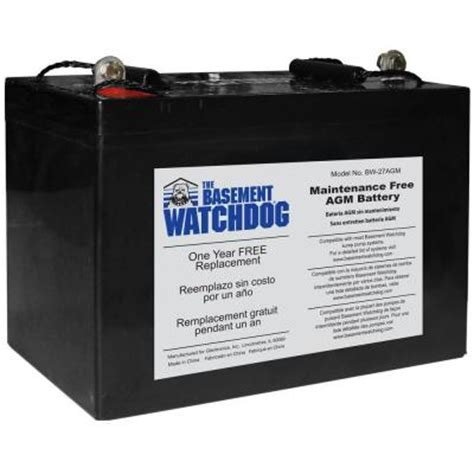 basement watchdog maintenance free agm standby battery