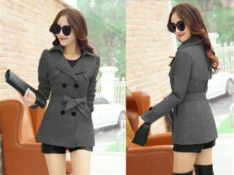 Model Baru St Mickylur Abu Wanita Cewek Kerja Wisata model blazer wanita terbaru desain modis ala korea
