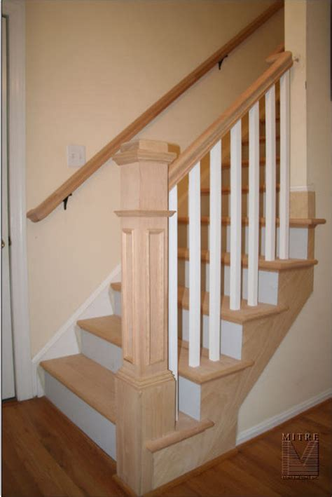 banister posts squar boxed newel post sitting at the front of the first