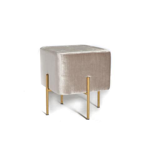 ottoman with gold legs carson ottoman grey gold legs
