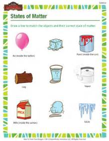 states of matter science printable for grade 3
