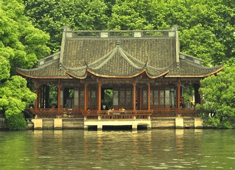 chinese house a chinese lakeside house a photo from zhejiang east