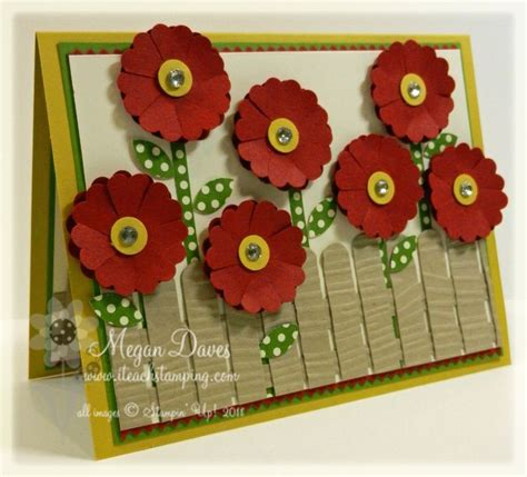 how to make a photo card how to make easy flowers and fences card