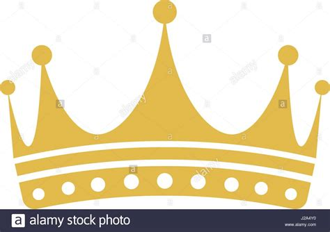 crown color isolated golden color crown logo on white background