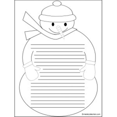 free printable snowman writing template best photos of snowman writing paper free printable