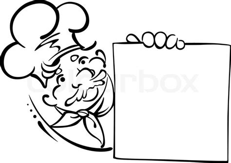Kitchen Design Template smiling chef with menu stock vector colourbox