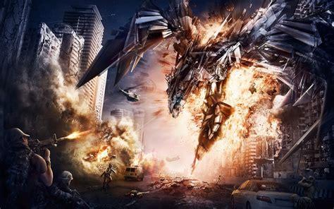 transformers 4 hd amp widescreen wallpaper exploding destructive conquence