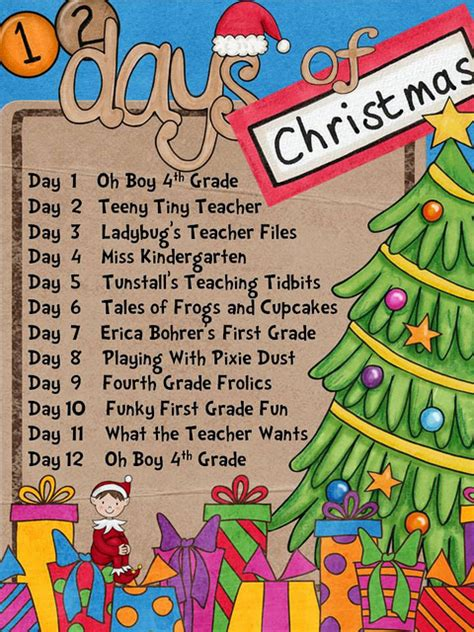 12 days of christmas ideas for work tales of frogs and cupcakes 12 days of giveaway