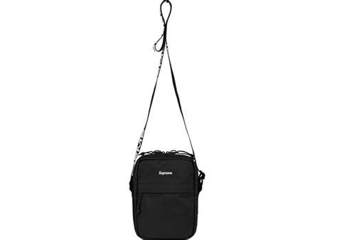 supreme cordura shoulder bag ss18 black wear official
