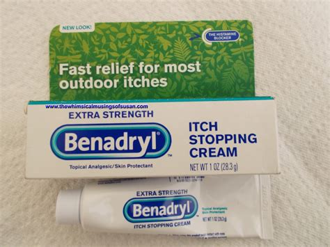 itching benadryl the whimsical musings of susan strength benadryl itch stopping vs aveeno