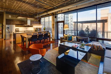 living room warehouse dwelling designs warehouse district loft industrial living room minneapolis by mark