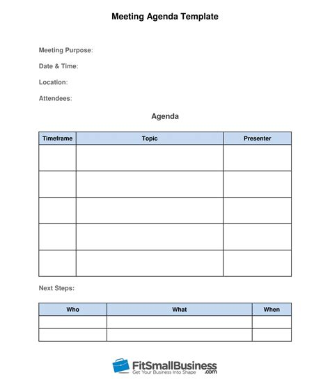 How To Run Effective Meetings In 10 Steps Free Template Meeting Layout Template