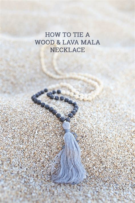 how to tie a beaded necklace how to tie a mala wooden bead necklace how to sday