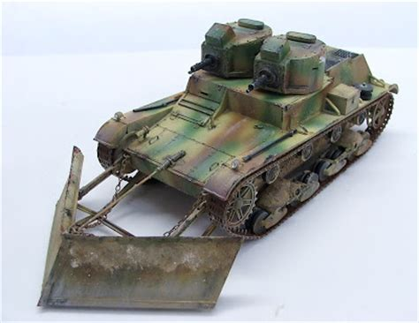Kenzzo Set Spt 30 Redy 7tp turret light tank with snow plow