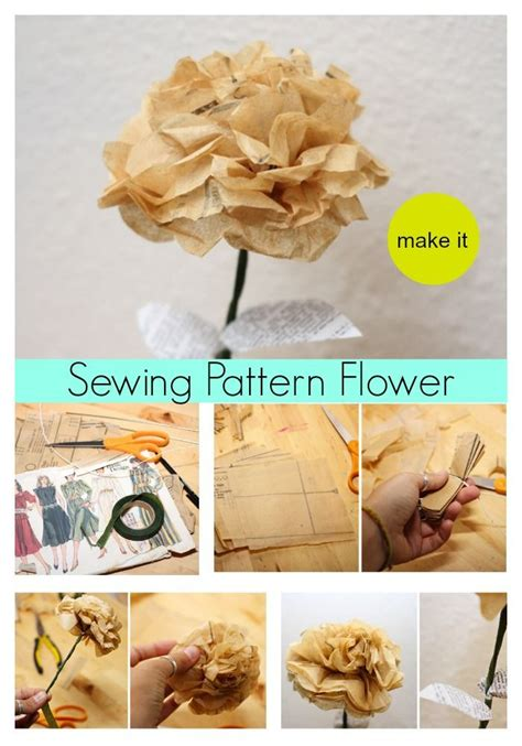 sewing pattern paper flowers 88 best images about sewing paper crafts on pinterest
