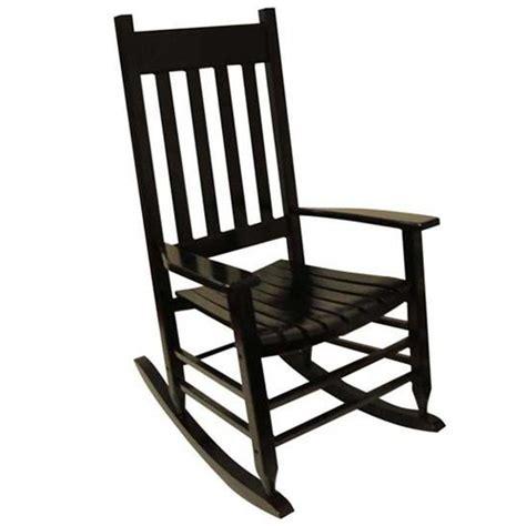 shop garden treasures  painted black wood slat seat outdoor rocking chair  lowescom