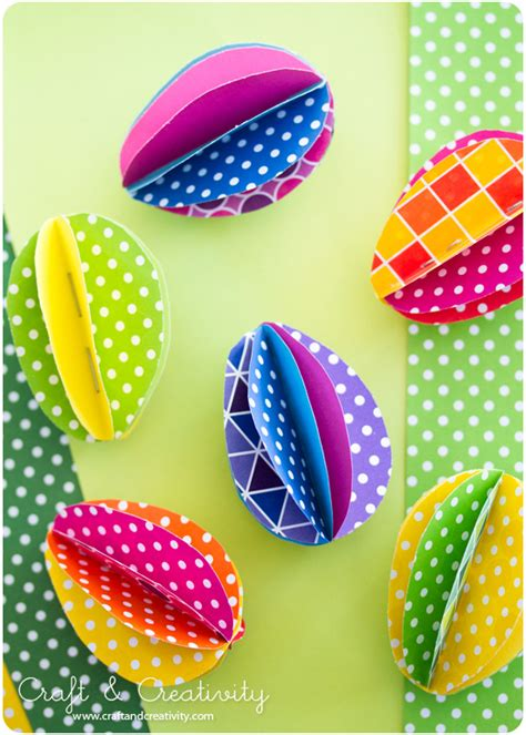 Paper Easter Egg Crafts - forward with these 20 diy easter decorations