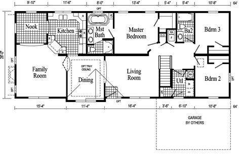 floor plan for ranch style home and affordable living made possible by ranch floor