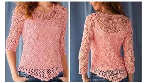 crochet paso a paso preciosa blusa a crochet paso a paso manualidades y
