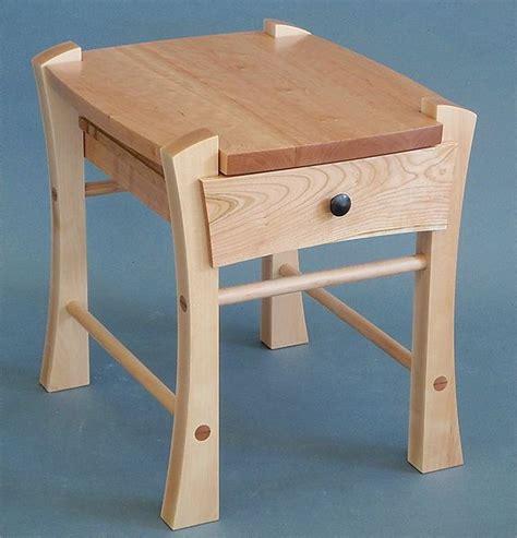 single drawer bedside table  todd bradlee wood side