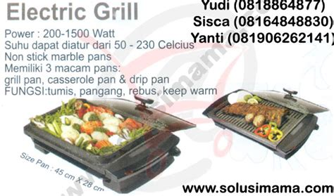 Signora Electric Grill solusi electric grill