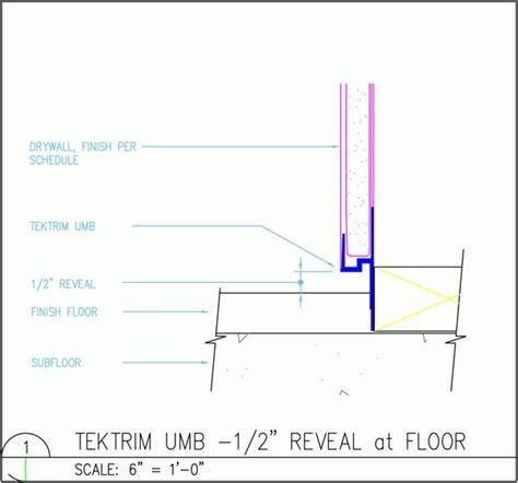Mid Century Modern Baseboard Trim by Tektrim Drywall Base W 1 2 Quot Reveal At Floor Slick