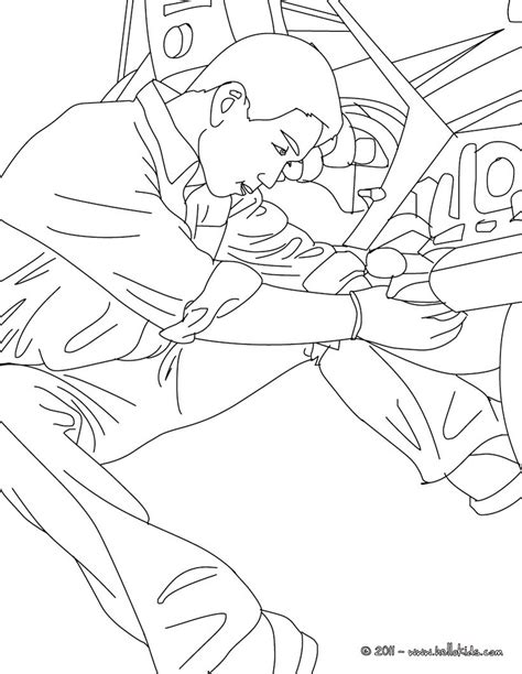 mechanic checks a truck motor coloring pages hellokids com
