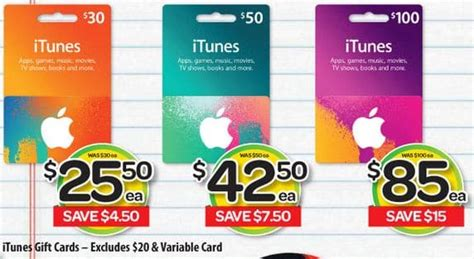 50 Percent Off Gift Cards - expired 15 off 30 50 and 100 itunes gift cards at woolworths gift cards on sale