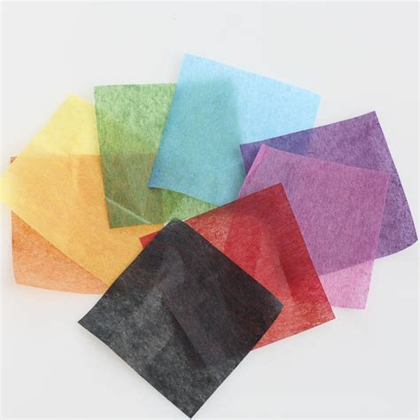 With Tissue Paper - assorted precut tissue paper squares paper mache basic