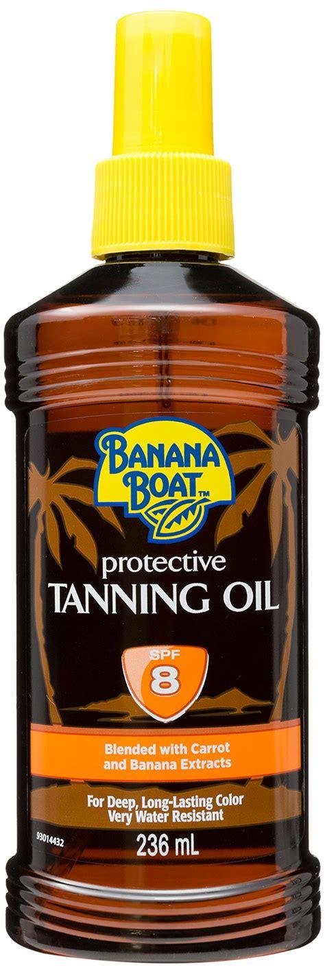 banana boat hawaiian tropic banana boat dark tanning oil spray spf 4 8 oz